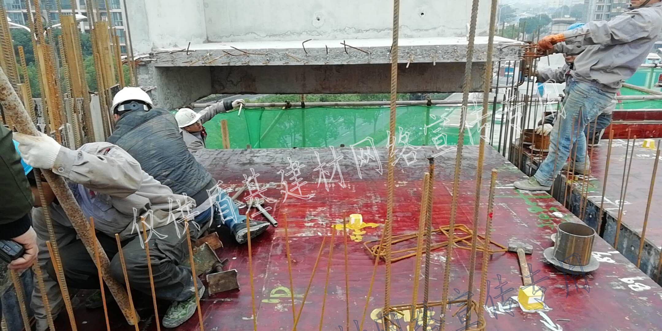 预制构件使用套筒灌浆料施工现场